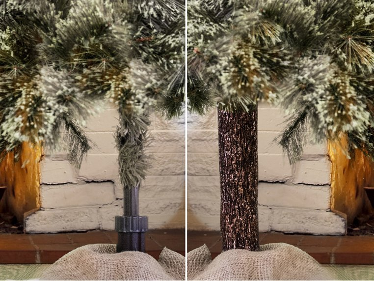 Artificial Tree Designed Pole Wrap by The Christmas Tree Hugger - 3
