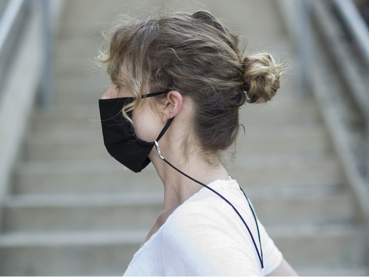 Cotton Mask & Stretch Cord Holder Set by La LOOP - 2