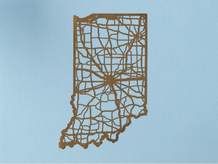 Oak State Map by Cut Maps - 14