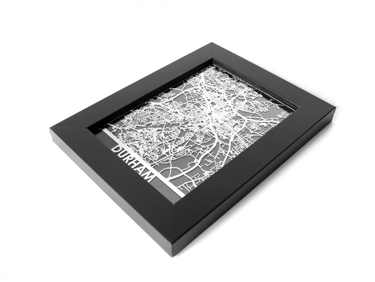 Stainless Steel City Map by Cut Maps - 145