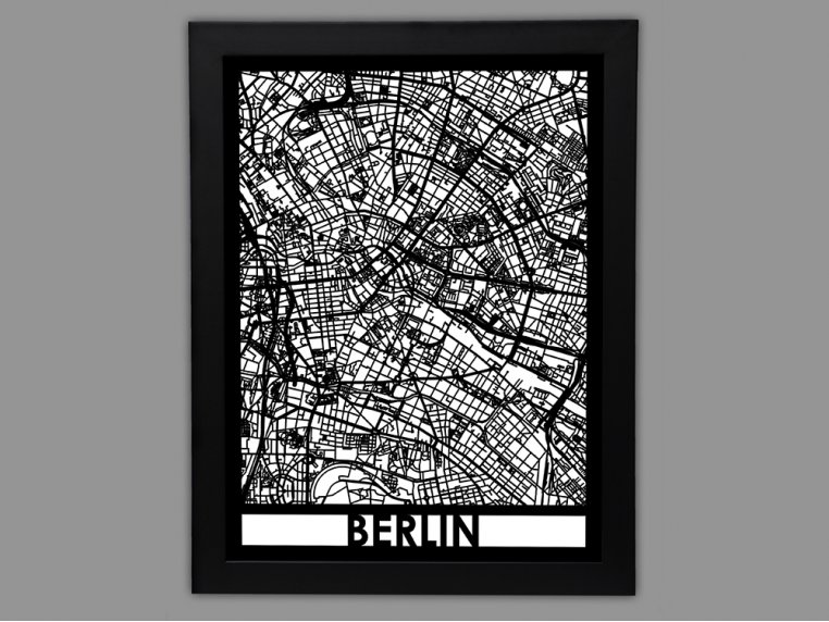 Laser Cut Worldwide City Map by Cut Maps - 51