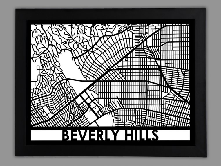 Laser Cut Worldwide City Map by Cut Maps - 52
