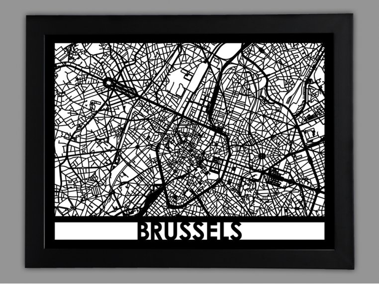 Laser Cut Worldwide City Map by Cut Maps - 56