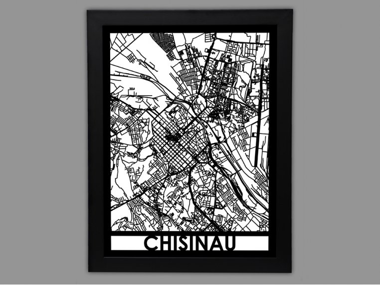 Laser Cut Worldwide City Map by Cut Maps - 59