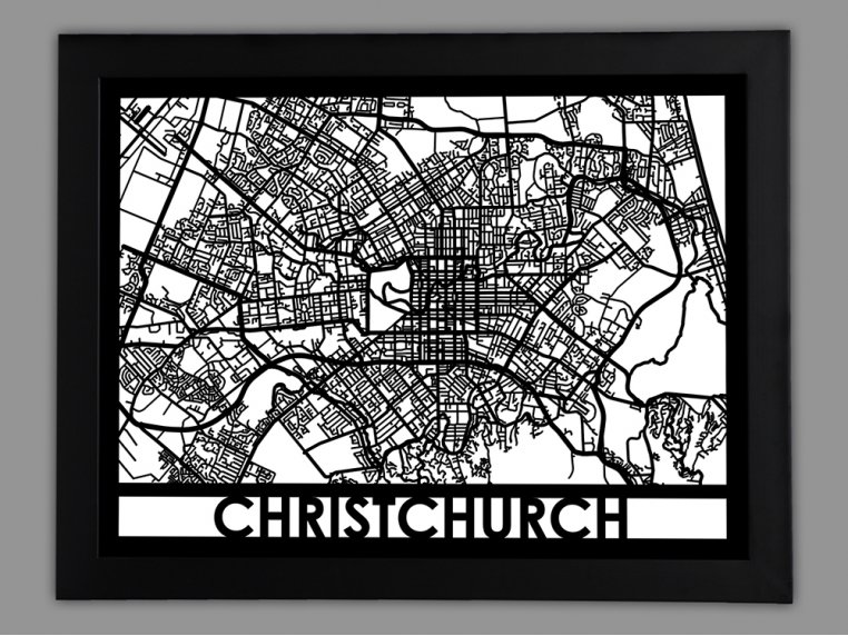 Laser Cut Worldwide City Map by Cut Maps - 60