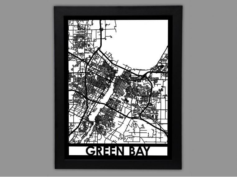 Laser Cut Worldwide City Map by Cut Maps - 66