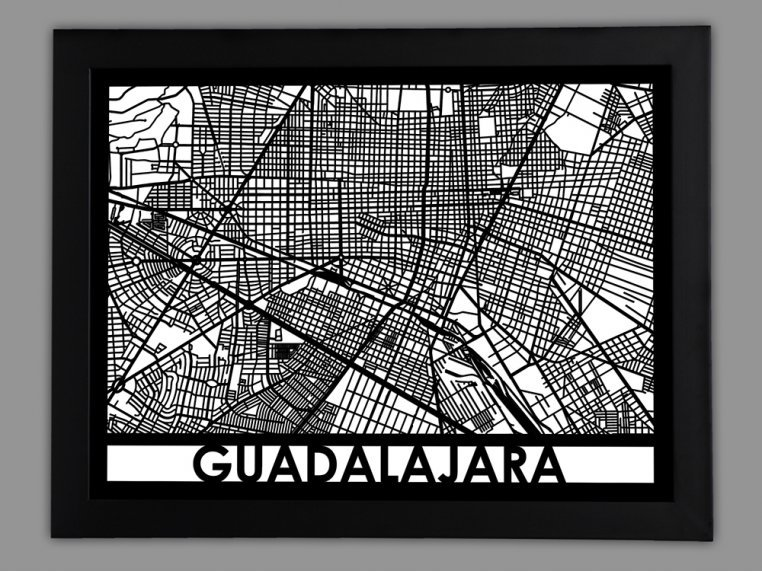 Laser Cut Worldwide City Map by Cut Maps - 68