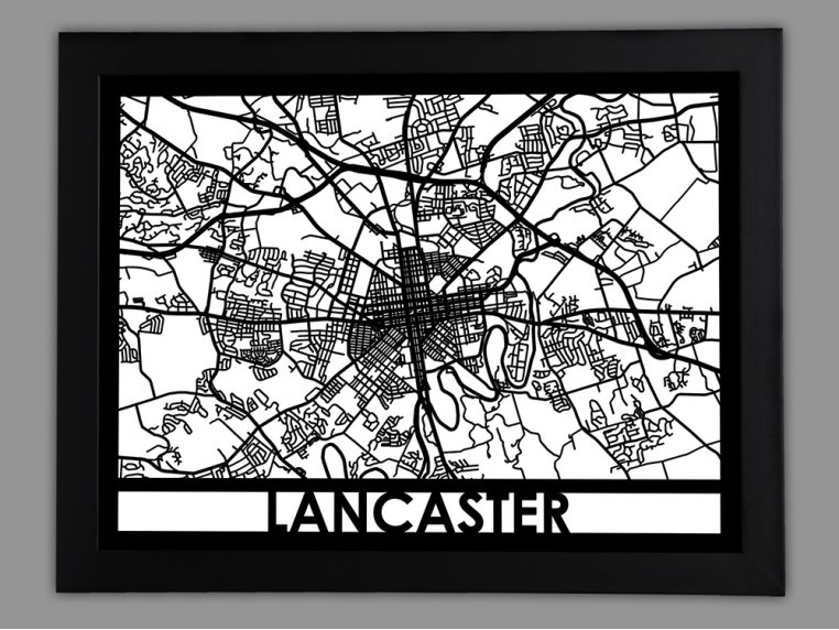 Laser Cut Worldwide City Map by Cut Maps - 71