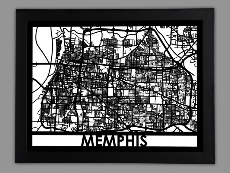 Laser Cut Worldwide City Map by Cut Maps - 75