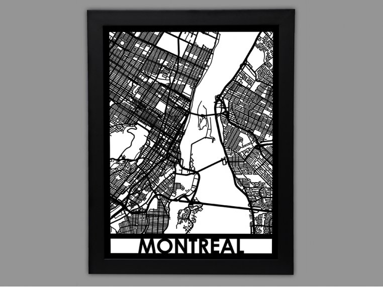 Laser Cut Worldwide City Map by Cut Maps - 76