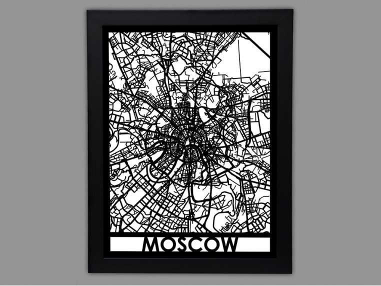 Laser Cut Worldwide City Map by Cut Maps - 77