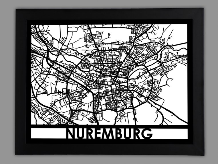 Laser Cut Worldwide City Map by Cut Maps - 79