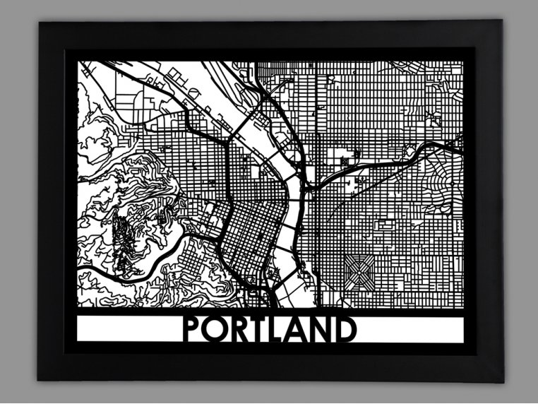 Laser Cut Worldwide City Map by Cut Maps - 81