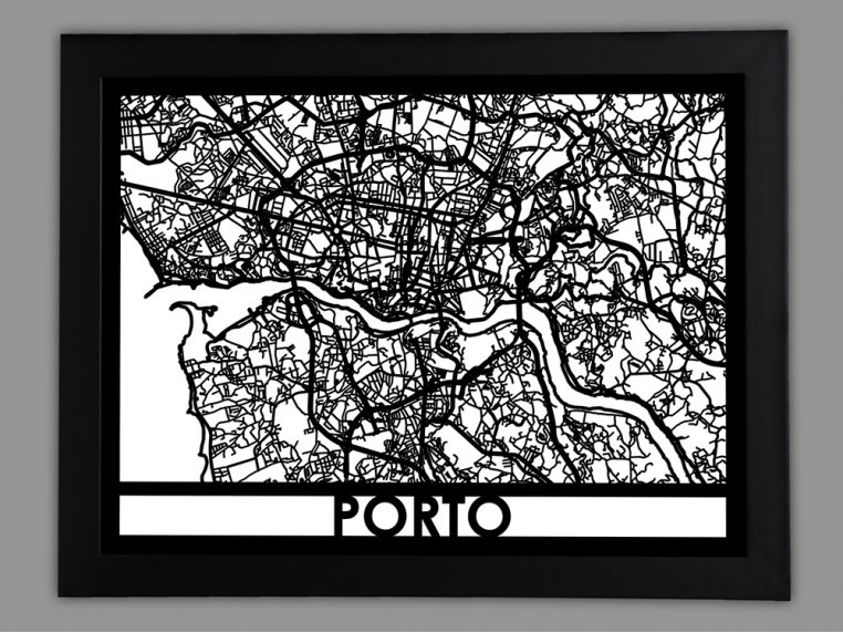Laser Cut Worldwide City Map by Cut Maps - 82