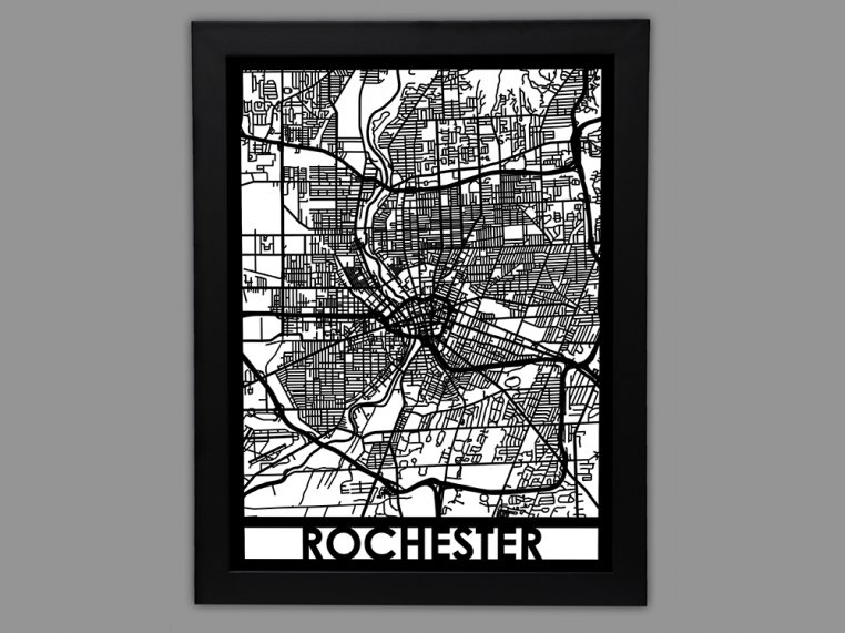 Laser Cut Worldwide City Map by Cut Maps - 86