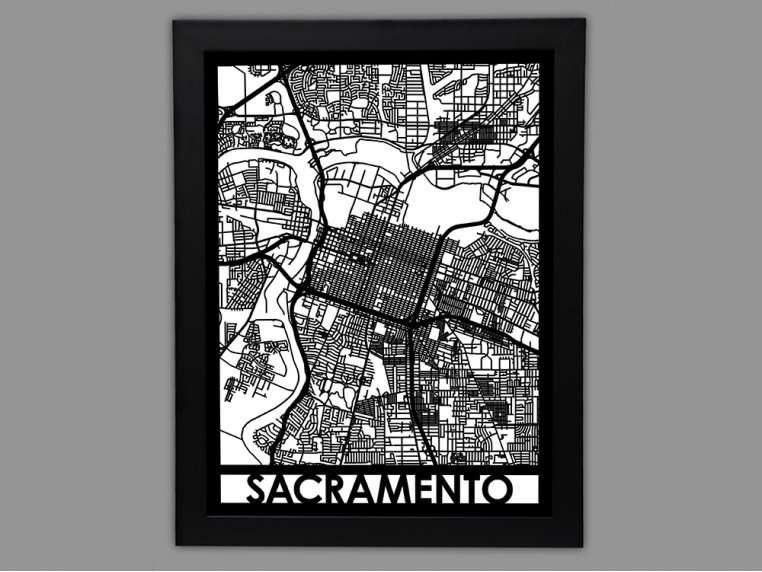Laser Cut Worldwide City Map by Cut Maps - 87