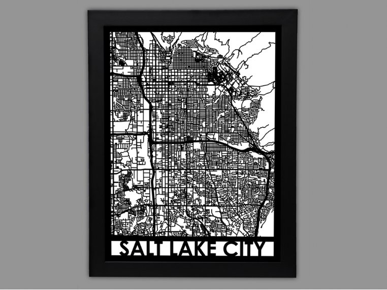 Laser Cut Worldwide City Map by Cut Maps - 88
