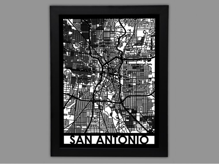 Laser Cut Worldwide City Map by Cut Maps - 89