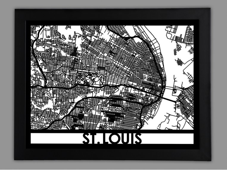 Laser Cut Worldwide City Map by Cut Maps - 96