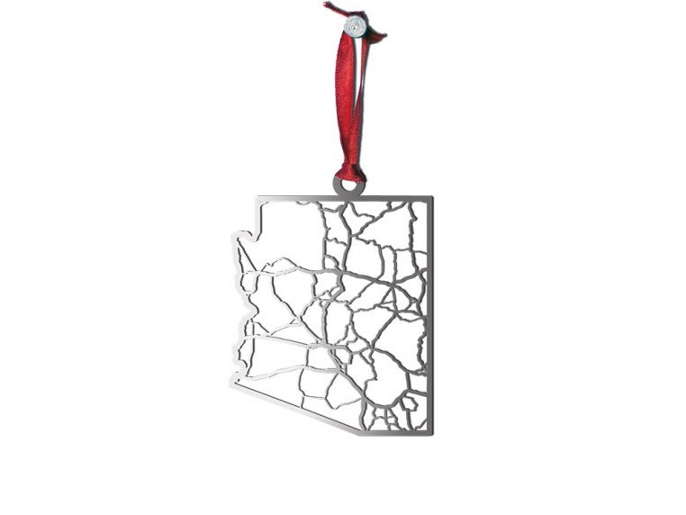 Steel Cut State Ornaments by Cut Maps - 4