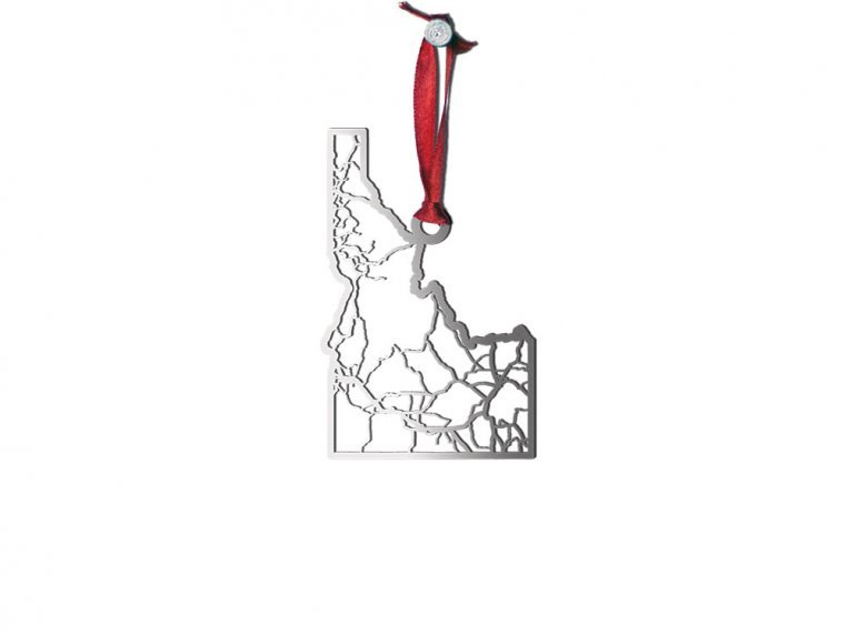 Steel Cut State Ornaments by Cut Maps - 12