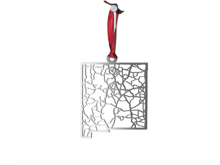 Steel Cut State Ornaments by Cut Maps - 31