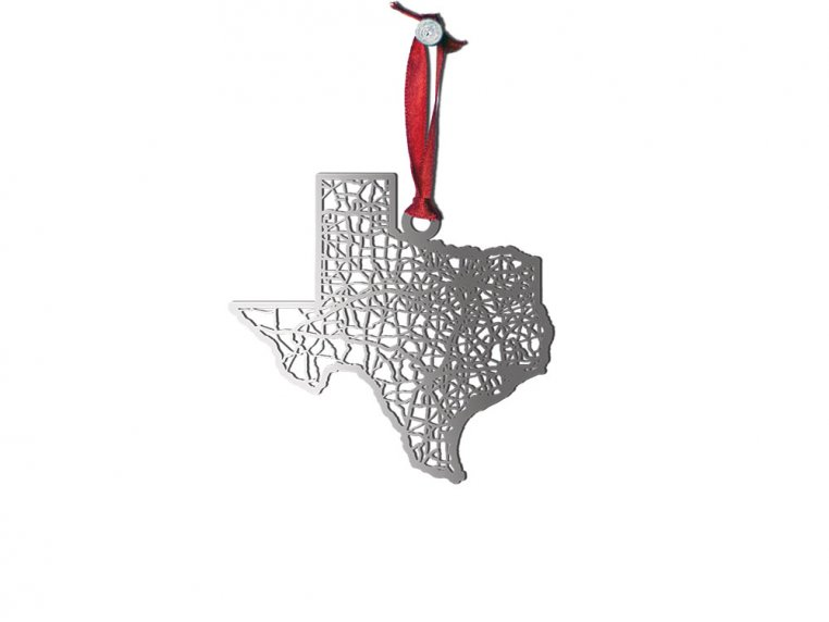 Steel Cut State Ornaments by Cut Maps - 43