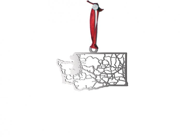 Steel Cut State Ornaments by Cut Maps - 49
