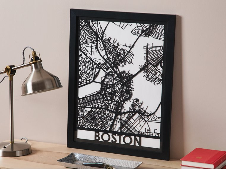 Laser Cut Worldwide City Map by Cut Maps - 1