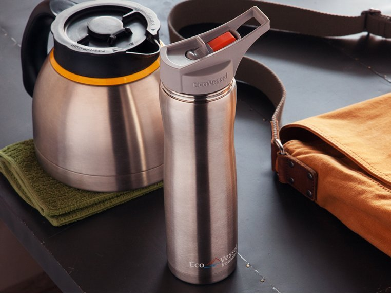 Triple Insulated Stainless Steel Water Bottle by Eco Vessel - 1