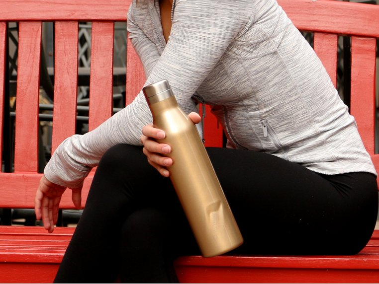 Insulated Stainless Steel Water & Wine Bottle by Eco Vessel - 1