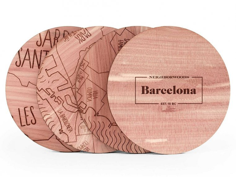 City Map Wooden Coasters by Neighborwoods - 9