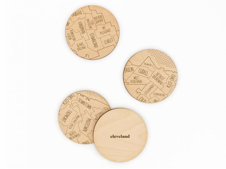 City Map Wooden Coasters by Neighborwoods - 11