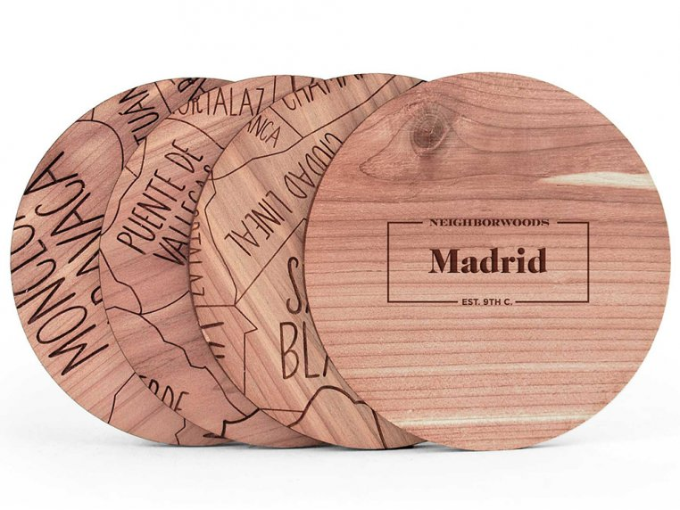 City Map Wooden Coasters by Neighborwoods - 18