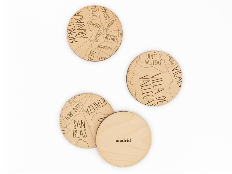 City Map Wooden Coasters by Neighborwoods - 15