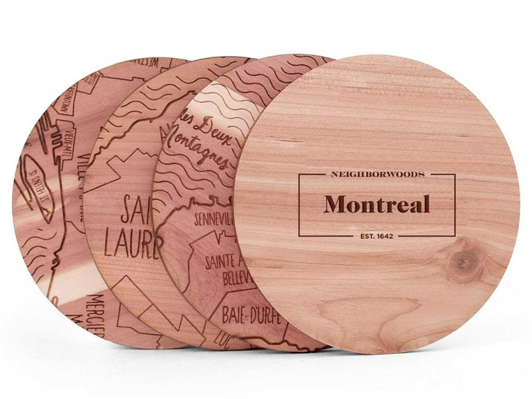 City Map Wooden Coasters by Neighborwoods - 21