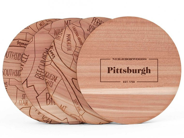 City Map Wooden Coasters by Neighborwoods - 25