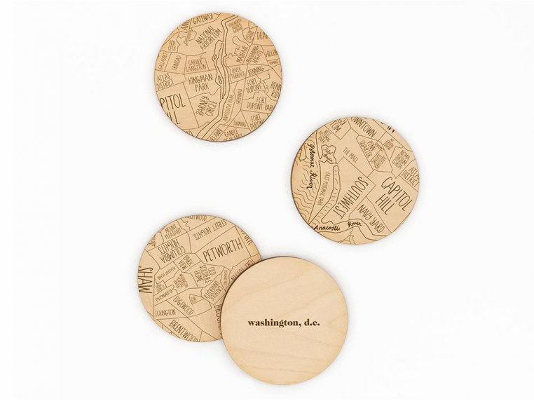 City Map Wooden Coasters by Neighborwoods - 32