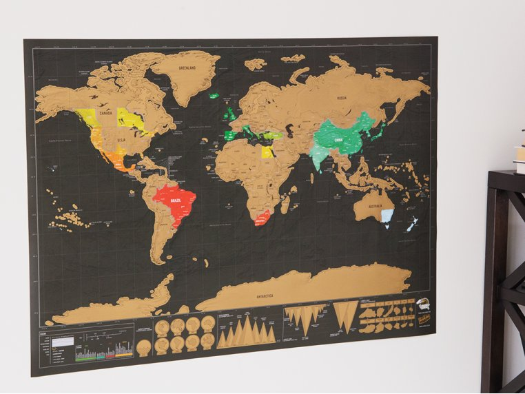 Scratch Map - Deluxe Edition by Luckies of London - 2