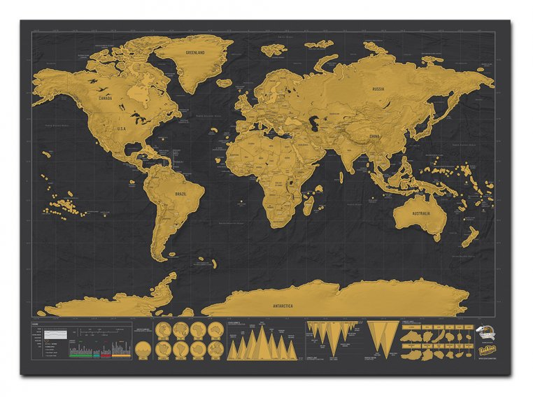 Scratch Map - Deluxe Edition by Luckies of London - 3