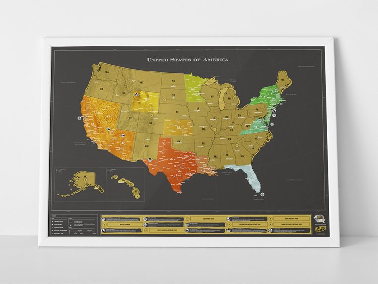 USA Scratch Map by Luckies of London - 1