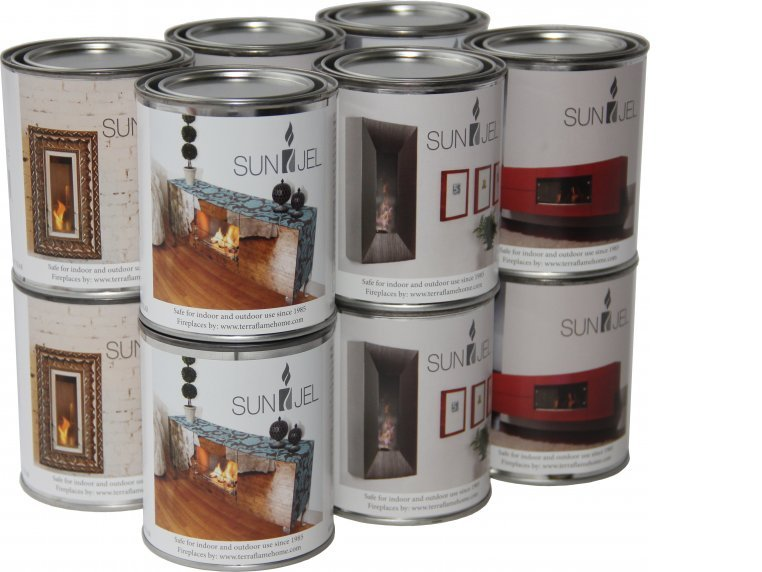 Sun Jel Gel Fuel, 12 pack by Anywhere Fireplace - 1
