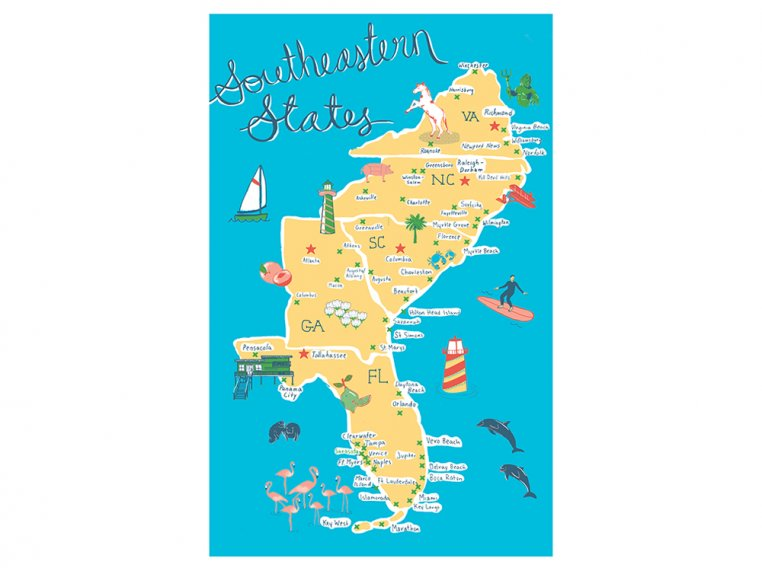 Destinations Tea Towels by Vestiges - 18