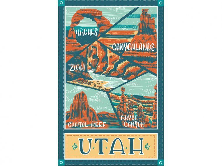 Destinations Tea Towels by Vestiges - 24