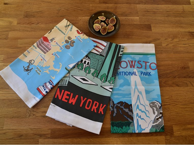 Destinations Tea Towels by Vestiges - 3