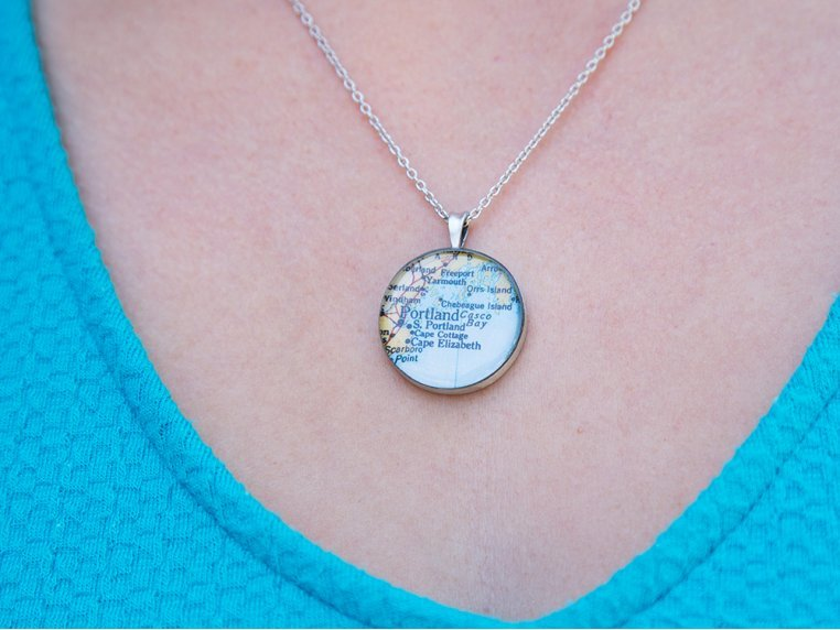 Engraved Pewter Necklace by CHART Metalworks - 3