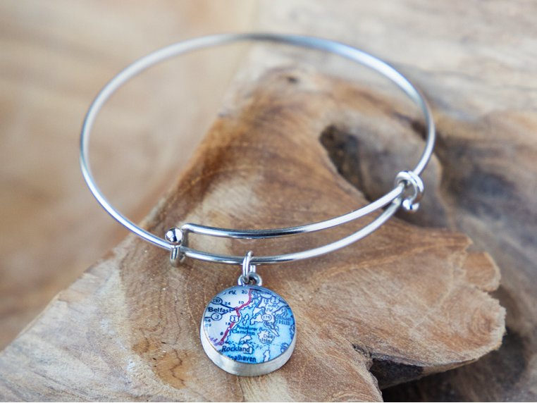 Expandable Pewter Bangle by CHART Metalworks - 1