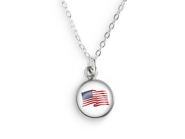 American Made USA Flag Necklace by CHART Metalworks - 2