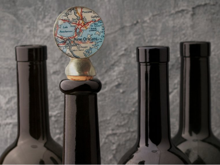 Handcrafted Custom Wine Stopper by CHART Metalworks - 1