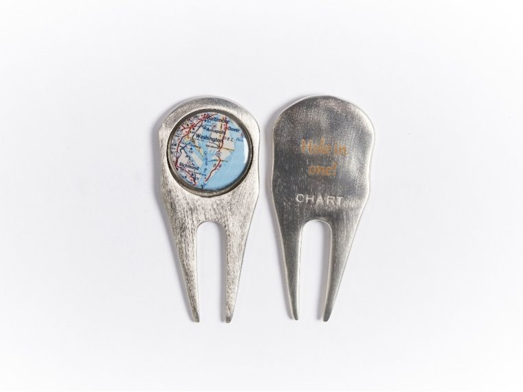 2-in-1 Golf Ball Marker & Divot Tool by CHART Metalworks - 4